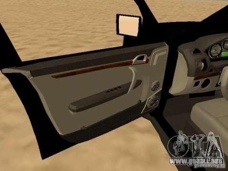 Land Rover Range Rover Sport para GTA San Andreas vista hacia atrás