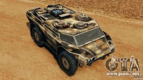 Armored Security Vehicle para GTA 4 interior