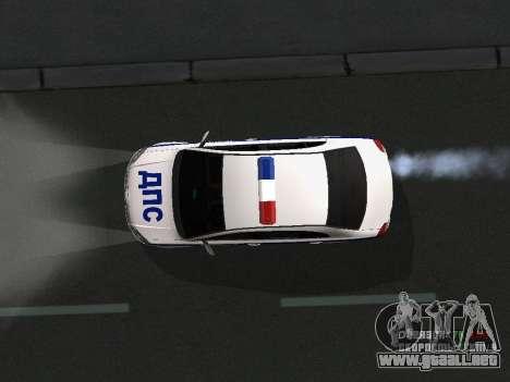 Toyota Avensis DPS para vista lateral GTA San Andreas