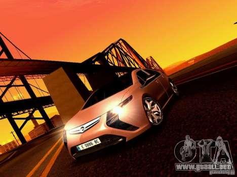 Opel Ampera para GTA San Andreas vista hacia atrás