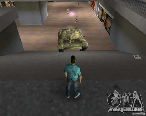 Tanque de Camo para GTA Vice City quinta pantalla