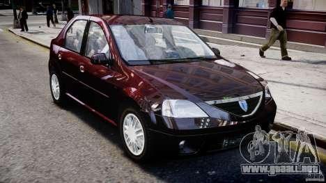Dacia Logan 2007 Prestige 1.6 para GTA 4 vista lateral