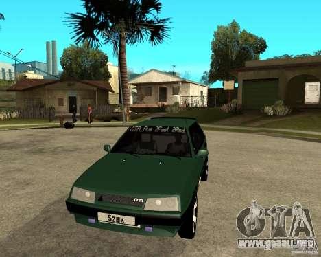 VAZ 2109 para GTA San Andreas vista hacia atrás