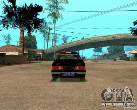 Vaz 2115 DPS para la visión correcta GTA San Andreas