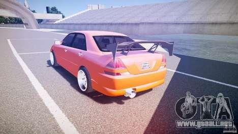 Toyota JZX110 para GTA 4 Vista posterior izquierda
