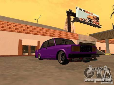 VAZ 2107 JDM para GTA San Andreas vista hacia atrás