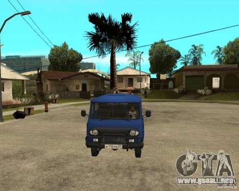 UAZ 39094 para GTA San Andreas vista hacia atrás