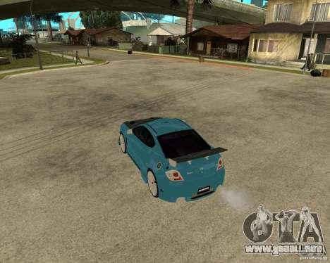 Hyundai Tibuton V6 GT para GTA San Andreas vista posterior izquierda