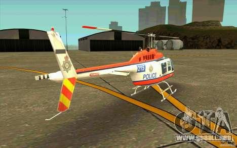 Bell 206 B Police texture2 para la visión correcta GTA San Andreas