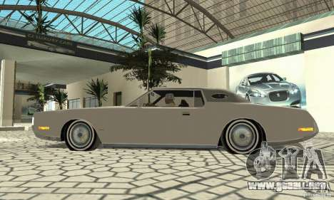 Lincoln Continental Mark IV 1972 para GTA San Andreas vista hacia atrás