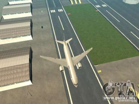 Boeing 777-200 Air France para visión interna GTA San Andreas