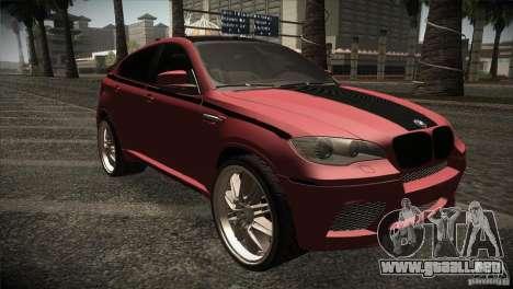 BMW X6 Lumma para visión interna GTA San Andreas