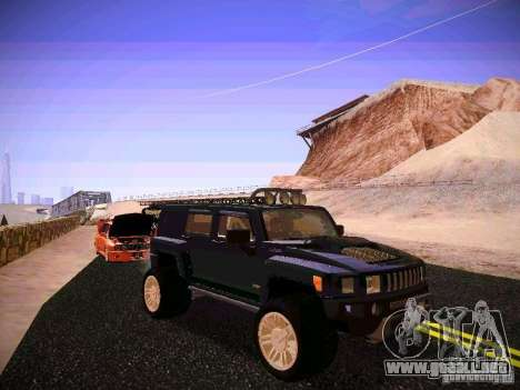 Hummer H3R para GTA San Andreas vista hacia atrás