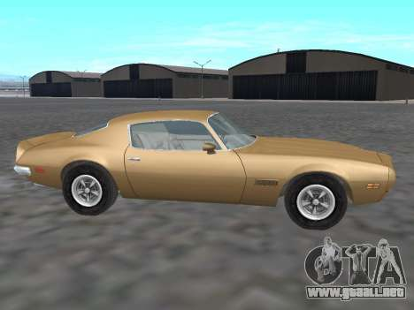 Pontiac Firebird Trans Am 1970 para GTA San Andreas left