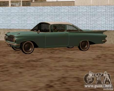 Chevrolet Impala 1959 para GTA San Andreas vista hacia atrás