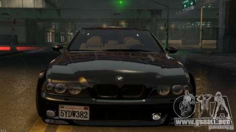 BMW M5 E39 BBC v1.0 para GTA 4 Vista posterior izquierda
