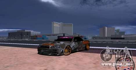 Nissan Skyline GTR34 MAXXIS para GTA San Andreas