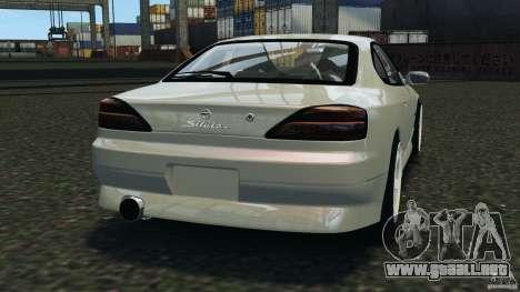 Nissan Silvia S15 Drift para GTA 4 Vista posterior izquierda