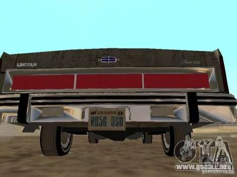Lincoln Town Car 1986 para la visión correcta GTA San Andreas