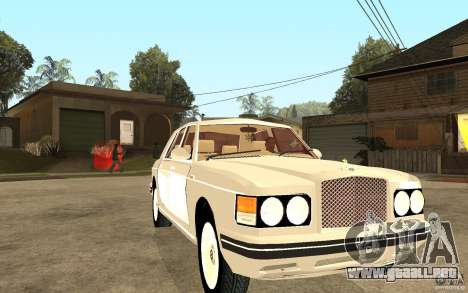 Bentley Turbo RT para GTA San Andreas vista hacia atrás