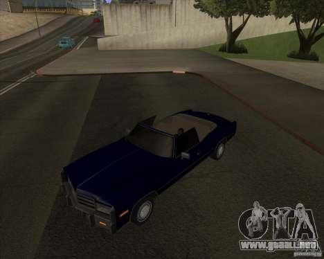 HD Esperanto para GTA San Andreas vista posterior izquierda