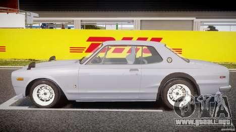 Nissan Skyline 2000 GT-R Drift Tuning para GTA 4 left