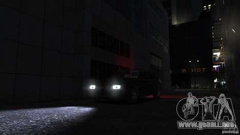 VAZ 2109 luz tuning para GTA 4 vista lateral