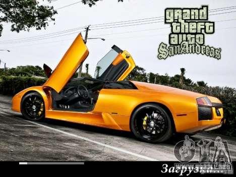 Nuevas pantallas de carga 2011 para GTA San Andreas sucesivamente de pantalla