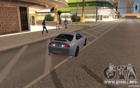 Toyota Supra Mark IV para GTA San Andreas vista posterior izquierda