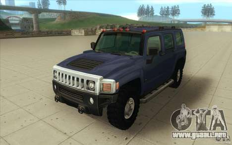 Hummer H3 para GTA San Andreas vista hacia atrás