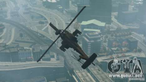 AH-64D Longbow Apache v1.0 para GTA 4 Vista posterior izquierda