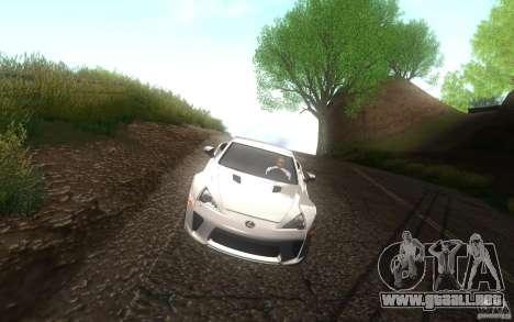Lexus LFA para vista lateral GTA San Andreas