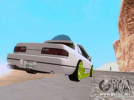 Nissan Silvia S13 Drift Style para GTA San Andreas vista hacia atrás