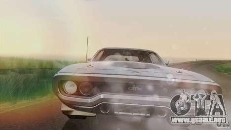 Plymouth GTX 426 HEMI 1971 para visión interna GTA San Andreas
