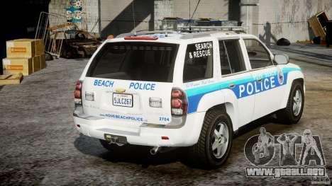 Chevrolet Trailblazer Police V1.5PD [ELS] para GTA 4 vista lateral