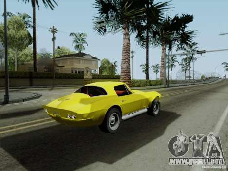 Chevrolet Corvette 1967 para vista lateral GTA San Andreas