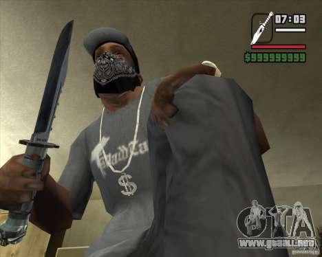 El cuchillo de Nº 3 de la acosadora para GTA San Andreas segunda pantalla