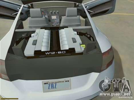 Audi TT Custom para visión interna GTA San Andreas
