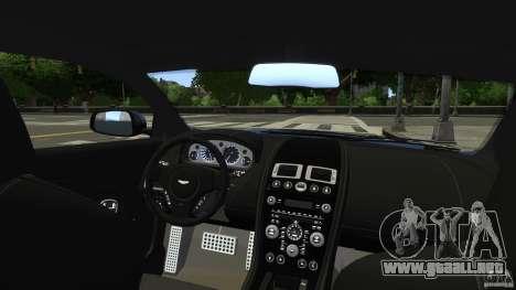 Aston Martin DBS v1.0 para GTA 4 vista lateral