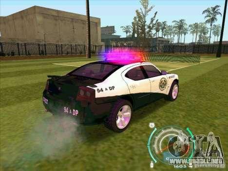 Dodge Charger Policia Civil from Fast Five para GTA San Andreas vista posterior izquierda