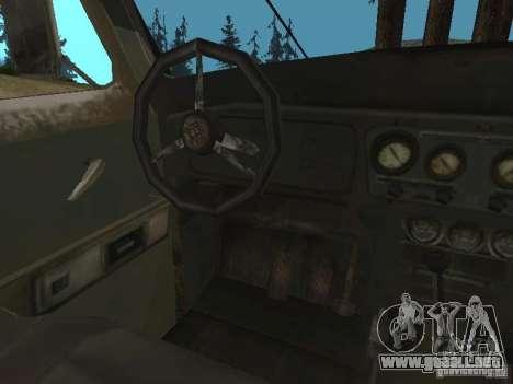 UAZ-31519 de COD MW2 para GTA San Andreas vista hacia atrás