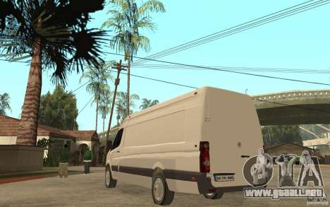 Volkswagen Crafter 2010 TDI para GTA San Andreas vista posterior izquierda