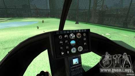 Black U.S. ARMY Helicopter v0.2 para GTA 4 vista hacia atrás
