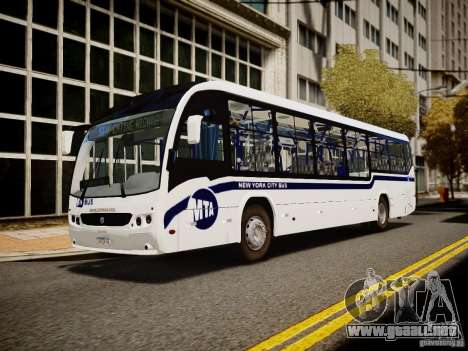 Scania K230 MTA New York City Bus para GTA 4 Vista posterior izquierda