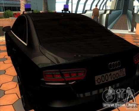 Audi A8 2010 v2.0 para la visión correcta GTA San Andreas
