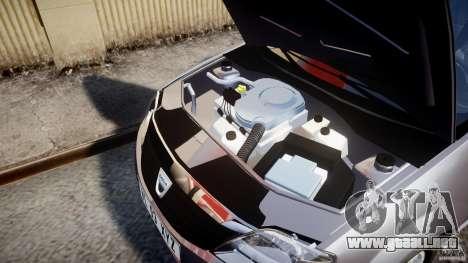 Dacia Logan v1.0 para GTA 4 vista hacia atrás