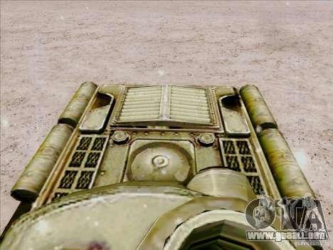 T-34 para GTA San Andreas vista hacia atrás