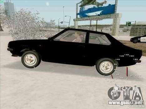 Dacia 1310 Sport para la visión correcta GTA San Andreas