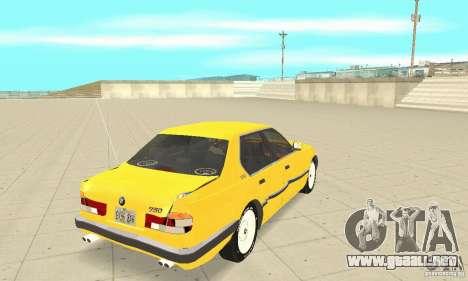 BMW 750I E32 para vista lateral GTA San Andreas