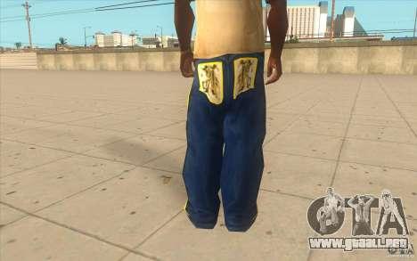 Karl Kan Puzzle Jeans para GTA San Andreas tercera pantalla
